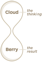 Cloud is the thinking and Berry is the result